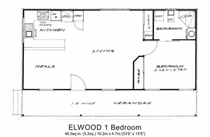 1 bed granny flats willow grove for Floor plans granny flats