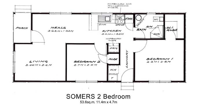 Other floor plans willow groves for Plan of two bedroom flat