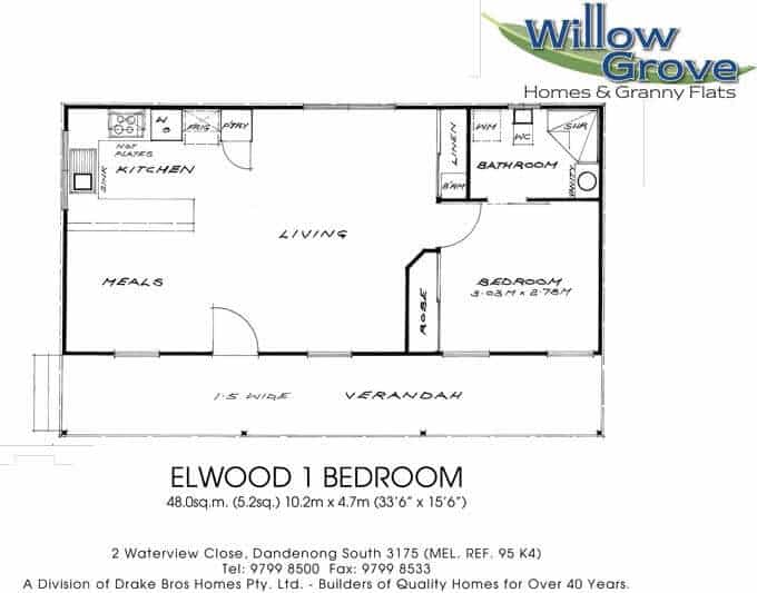 1 bedroom granny flat floor plans design melbourne willow grove homes for 1 bedroom granny flat floor plans
