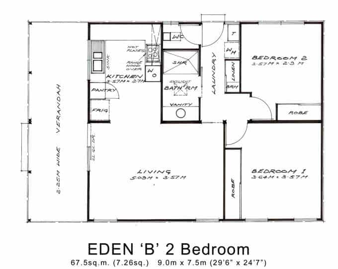Eden 'B' 2 Bedroom